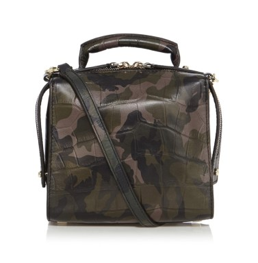 Karen Millen camo leather mini bag