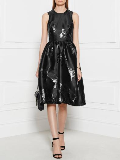 MARKUS LUPFER Floral Shine Structured Zoe Dress