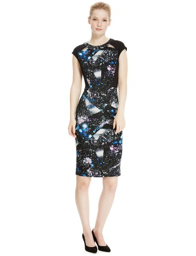 Marks and Spencer PETITE Galactic Scuba Dress