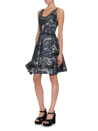 OSMAN Canis marble-jacquard dress
