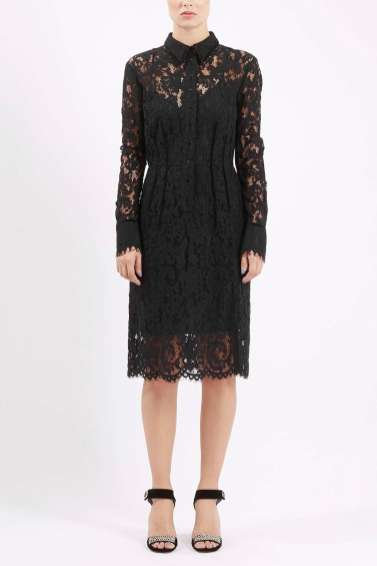 Topshop Oakham Lace Shirt Dress by Unique