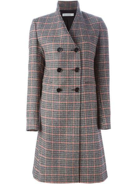 VICTORIA BECKHAM double breasted checked coat