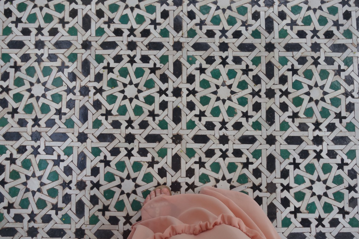 Tiled floors at La Mamounia hotel, Marrakech
