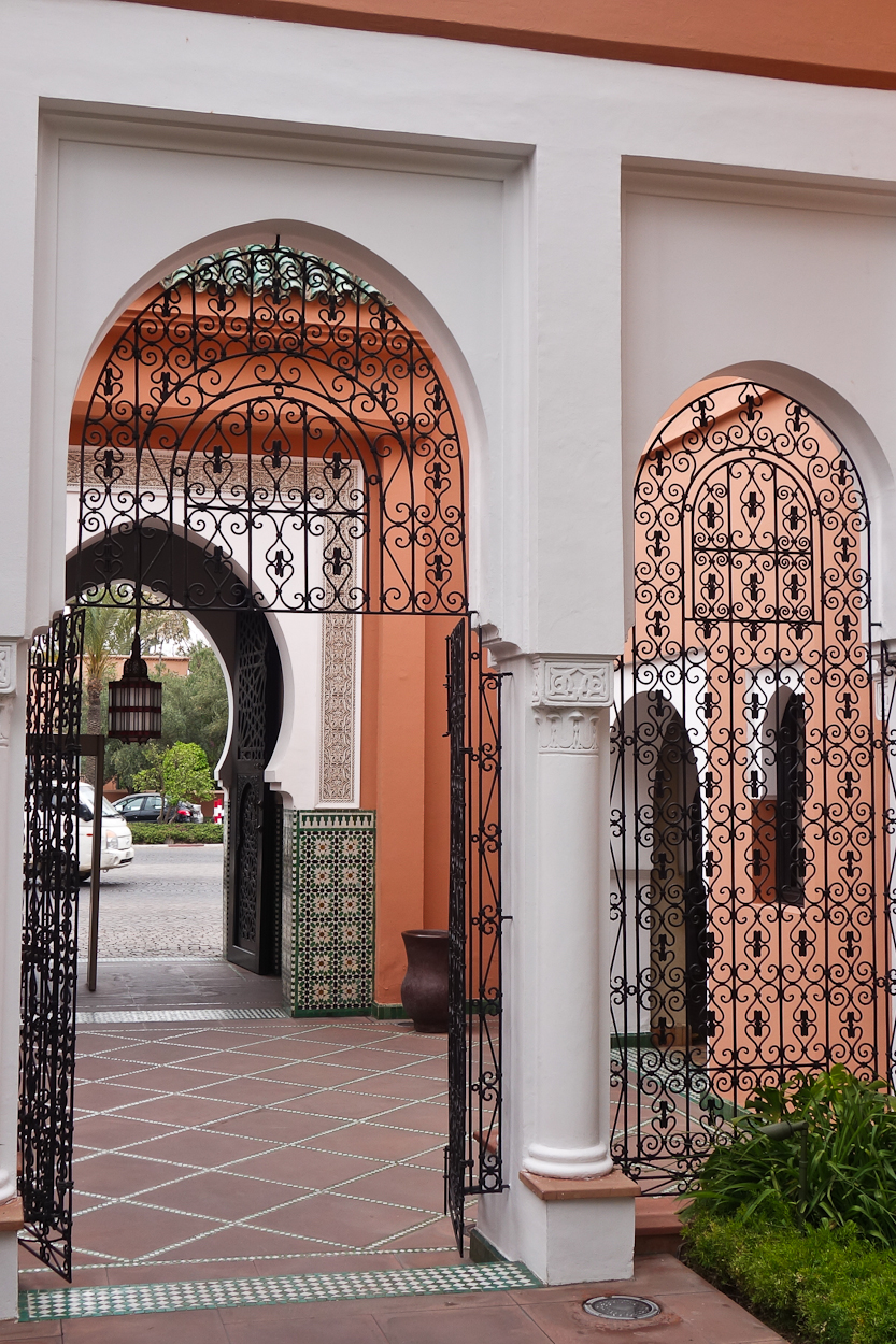 Entrance gate to La Mamounia hotel, Marrakech