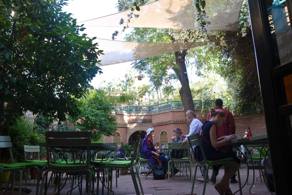 Tea garden at Jardin Majorelle, Marrakech