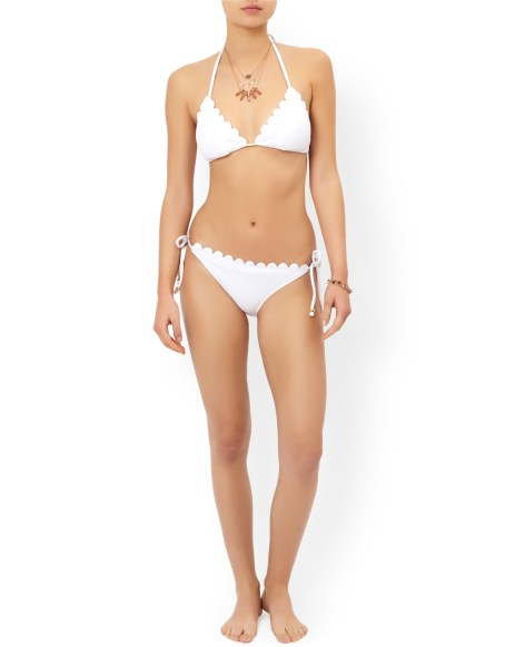 Accessorize SASHA SCALLOPED TRIANGLE BIKINI TOP
