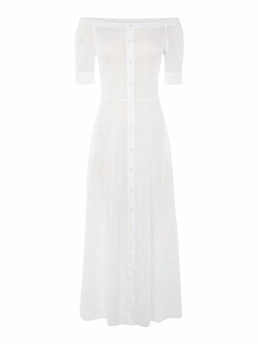 Lauren Ralph Lauren Carita Short Sleeve Maxi Dress