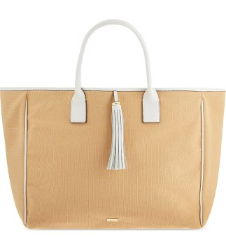 MELISSA ODABASH Barbados canvas beach tote