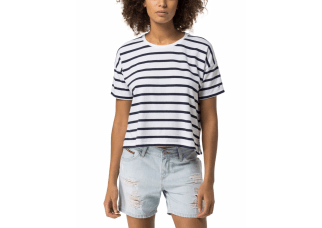 Tommy Hilfiger Cropped Stripe T-Shirt