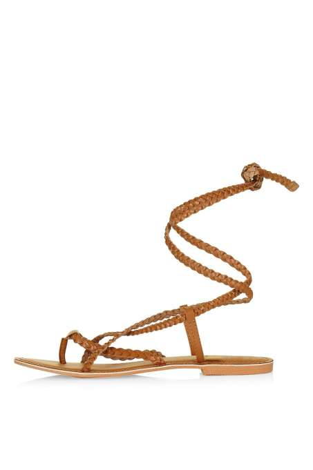 Topshop HOPE Plaited Tie Sandal