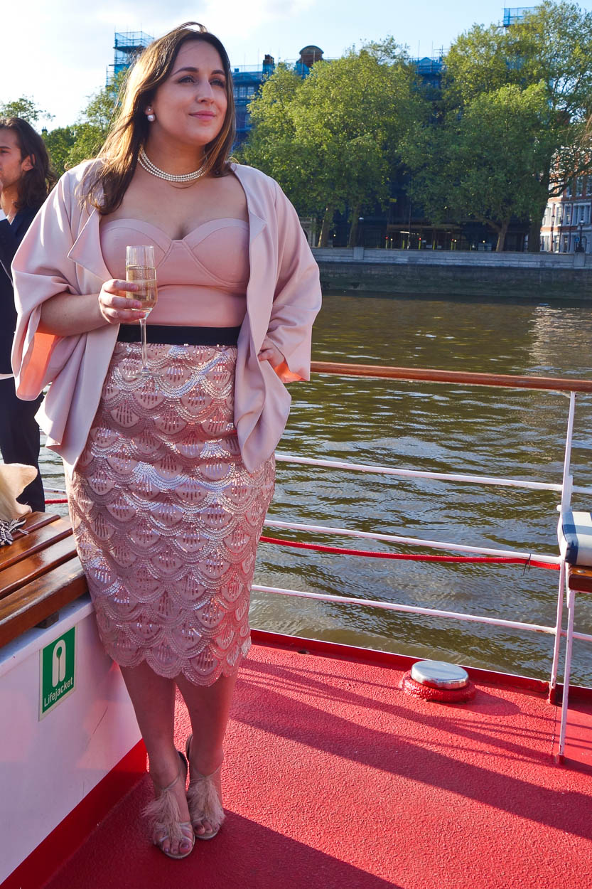 pinkschmink aboard the MV Edwardian on the Thames, London
