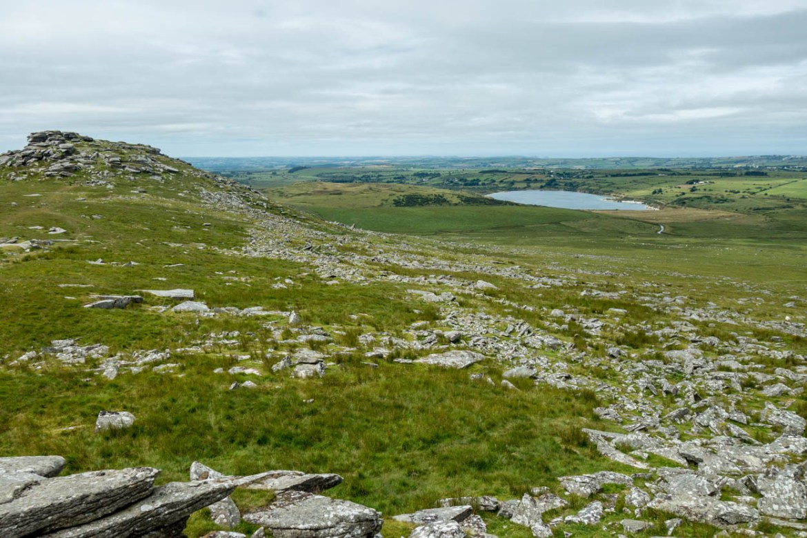 View over Bodmin Moor from Little Rough Tor, Cornwall