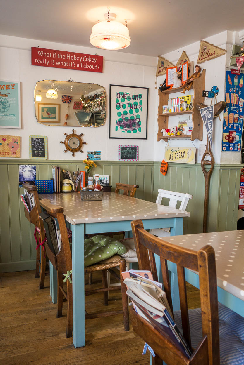 Inside the Lifebuoy Cafe, Fowey, Cornwall