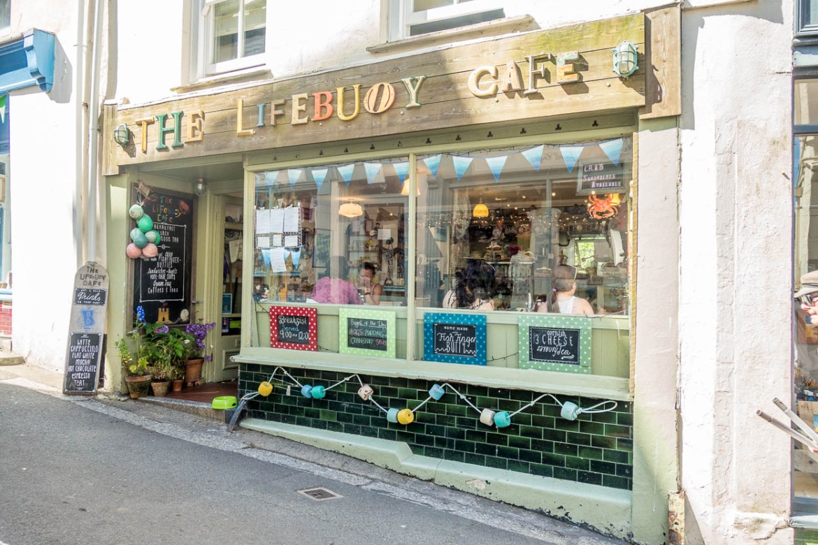The Lifebuoy Cafe in Fowey, Cornwall