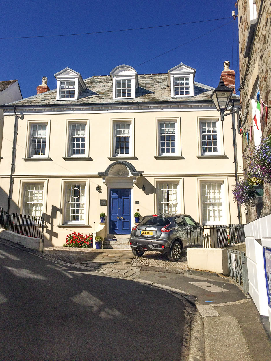 Georgian house in Fowey, Cornwall