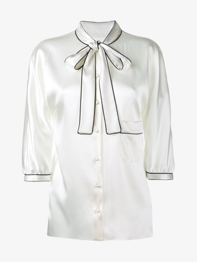 DOLCE & GABBANA Three-Quarter Length Sleeve Silk Shirt