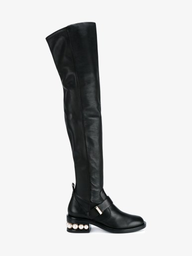 NICHOLAS KIRKWOOD Casati Over The Knee Biker Boots
