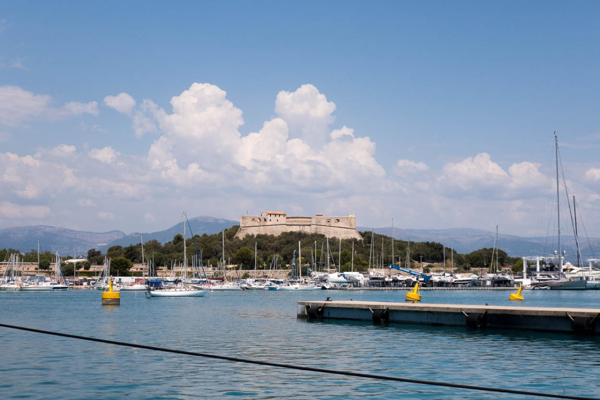 Fort Carré overlooking the harbour at Port Vauban, Antibes