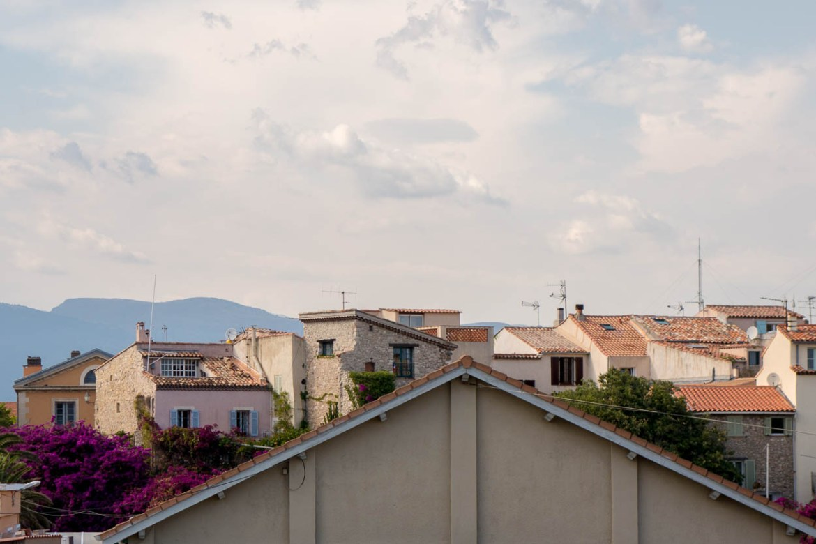 View across the rooftops of Vieil Antibes