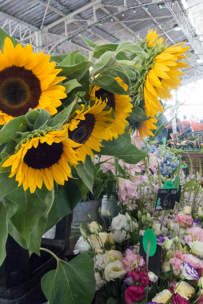 Sunflowers and more in the Marché Provençal, Antibes