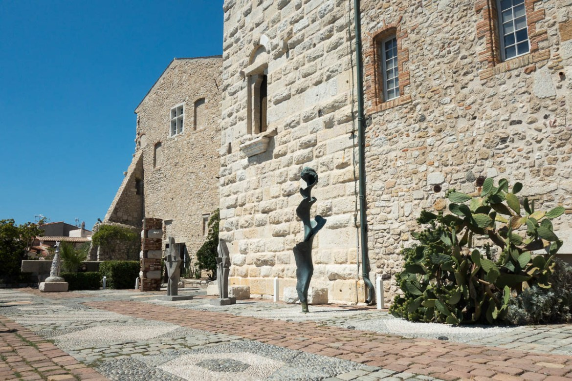 Sculptures outside the Musée Picasso, Antibes