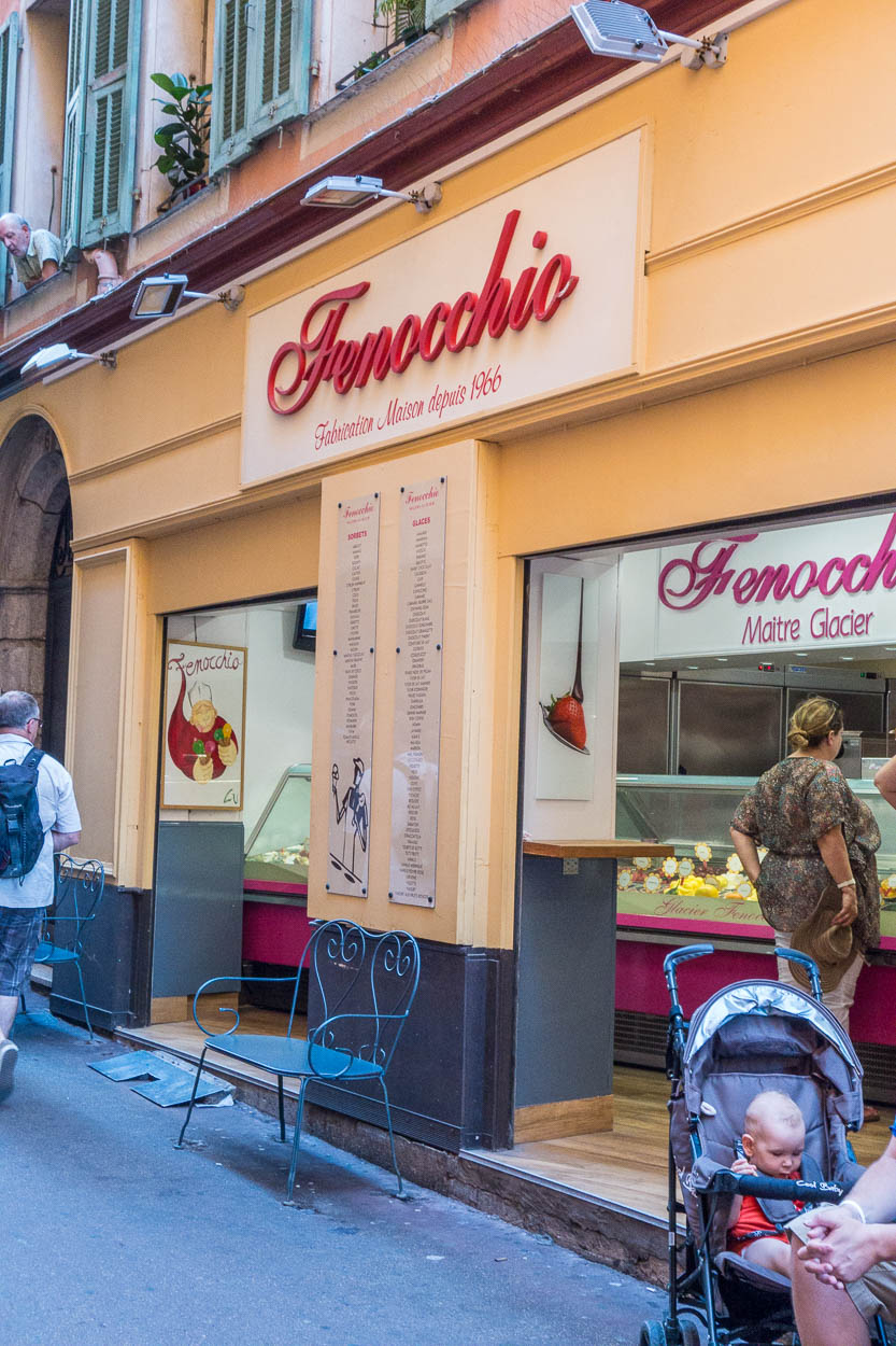 Fenocchio ice cream parlour in the rue de la Poissonnerie, Nice