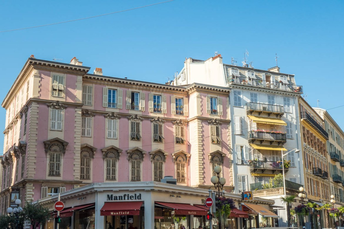 Pink buildings in Nice