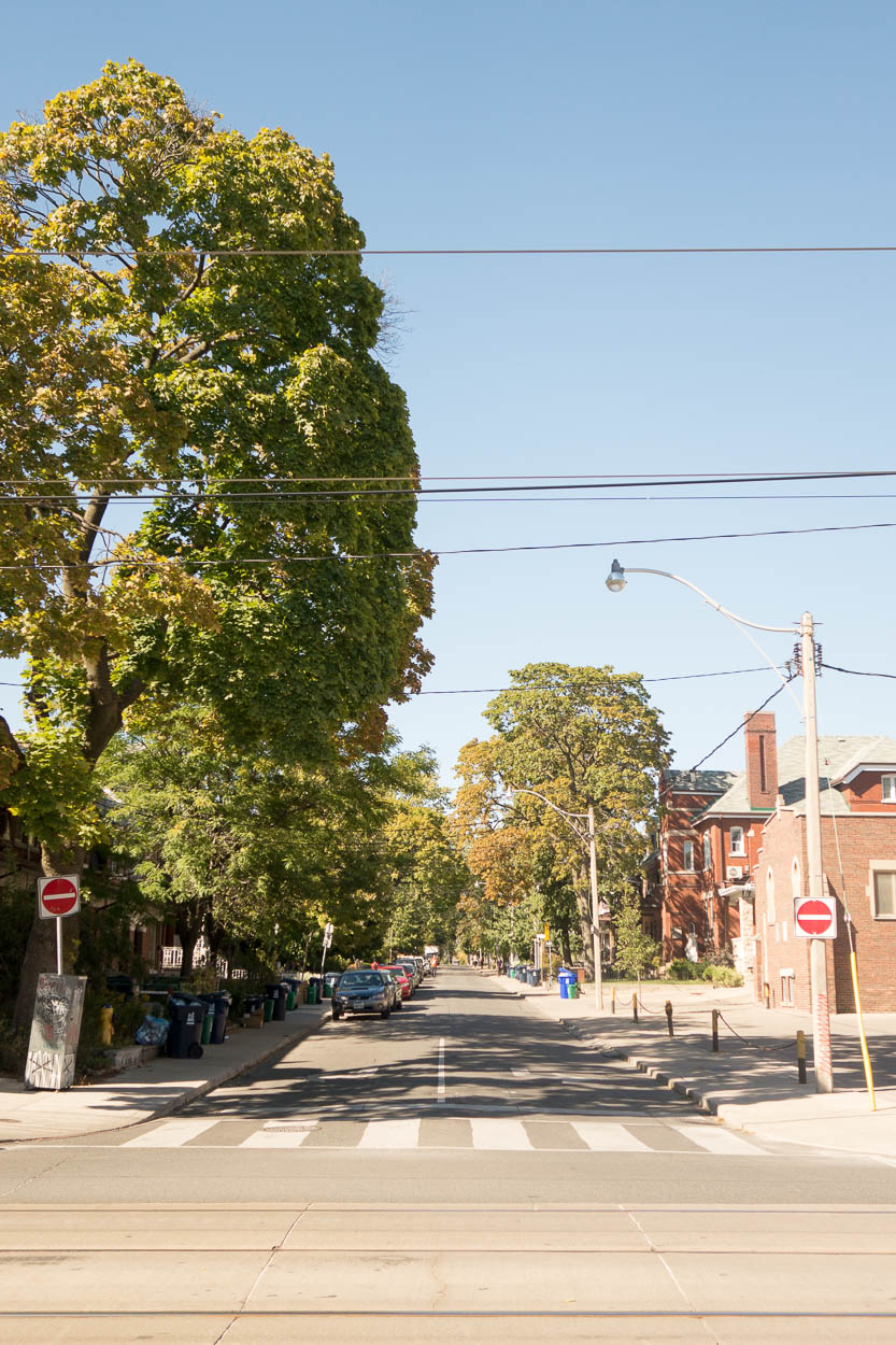 Residential neighbourhoods off Dundas Street West, Toronto