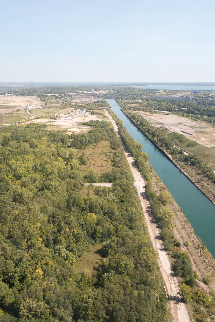 View of the Hydro Canal from the helicopter, Niagara