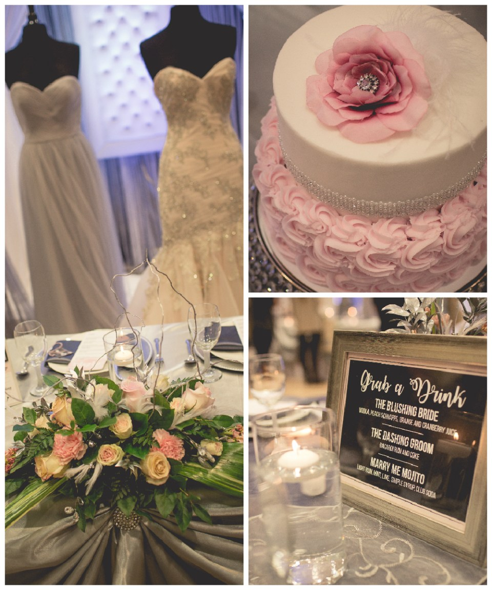 Romantic Pink and Grey Wedding Theme | Seen at the La Crosse Bridal Expo | Pink Spruce Photography