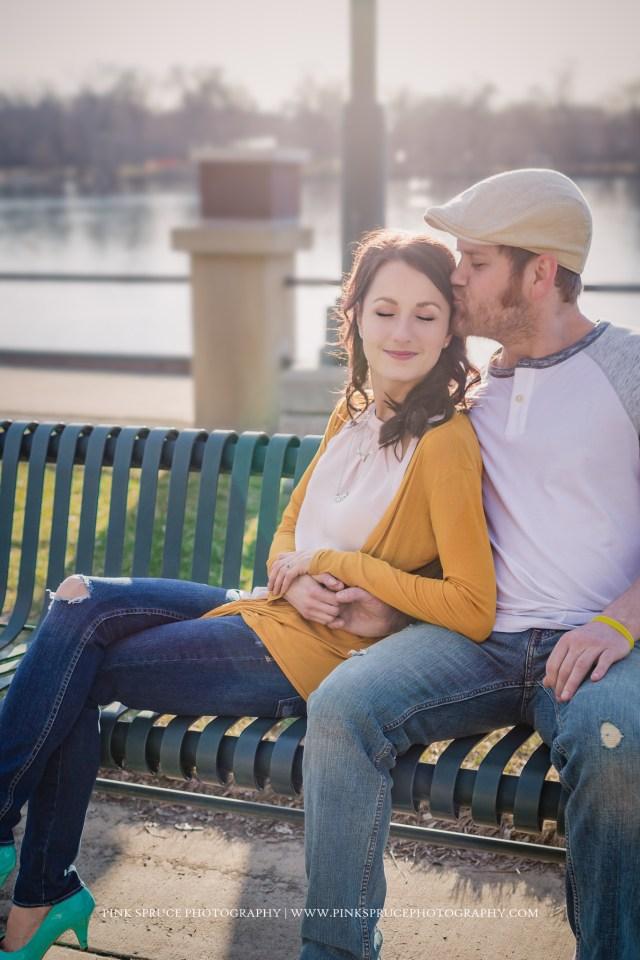 Nvette + Vic   La Crosse Engagement Session   Riverside Park