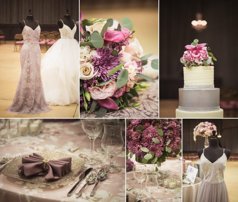 Orchid Purple and Pink Garden Floral Wedding Theme | La Crosse Bridal Expo 2018 | Photography by Pink Spruce Photography, Wedding Photographer La Crosse WI