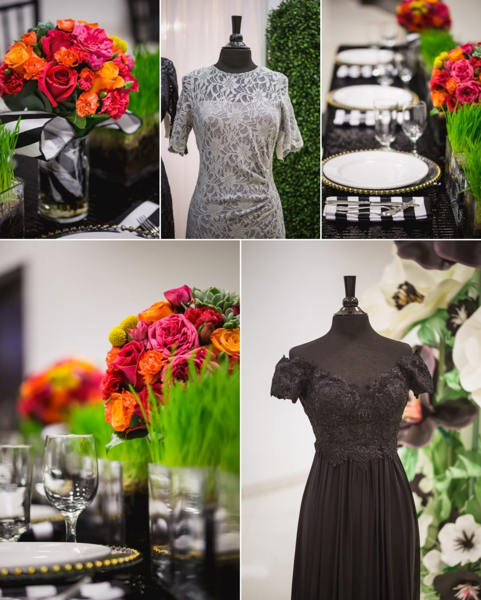 Black And White Wedding Theme With Pops Of Color