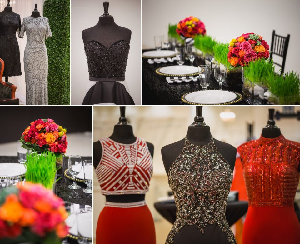 Sophisticated Black and White Wedding Theme with Pops of Color | La Crosse Bridal Expo 2018 | Photography by Pink Spruce Photography, Wedding Photographer La Crosse WI