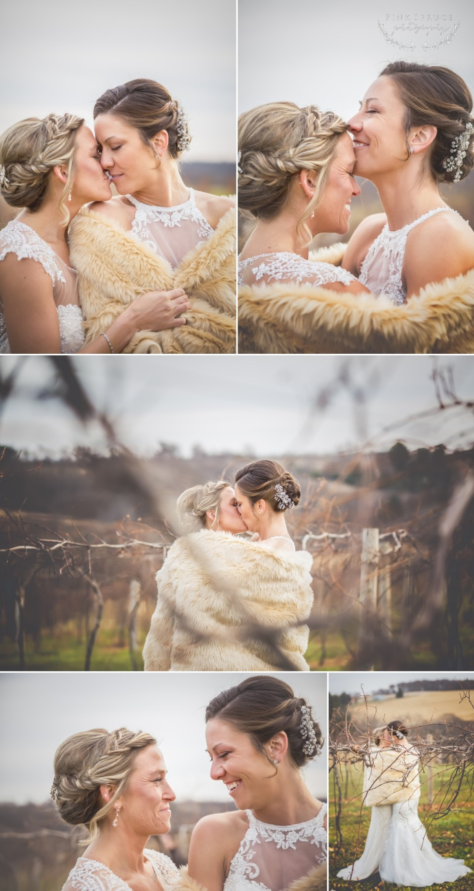 Rustic Winter Wedding at Pedretti's Party Barn, Viroqua, WI | Photography by: Pink Spruce Photography www.pinksprucephotography.com | Lesbian Wedding, Same Sex Wedding, Wisconsin Wedding, Vernon Vineyards