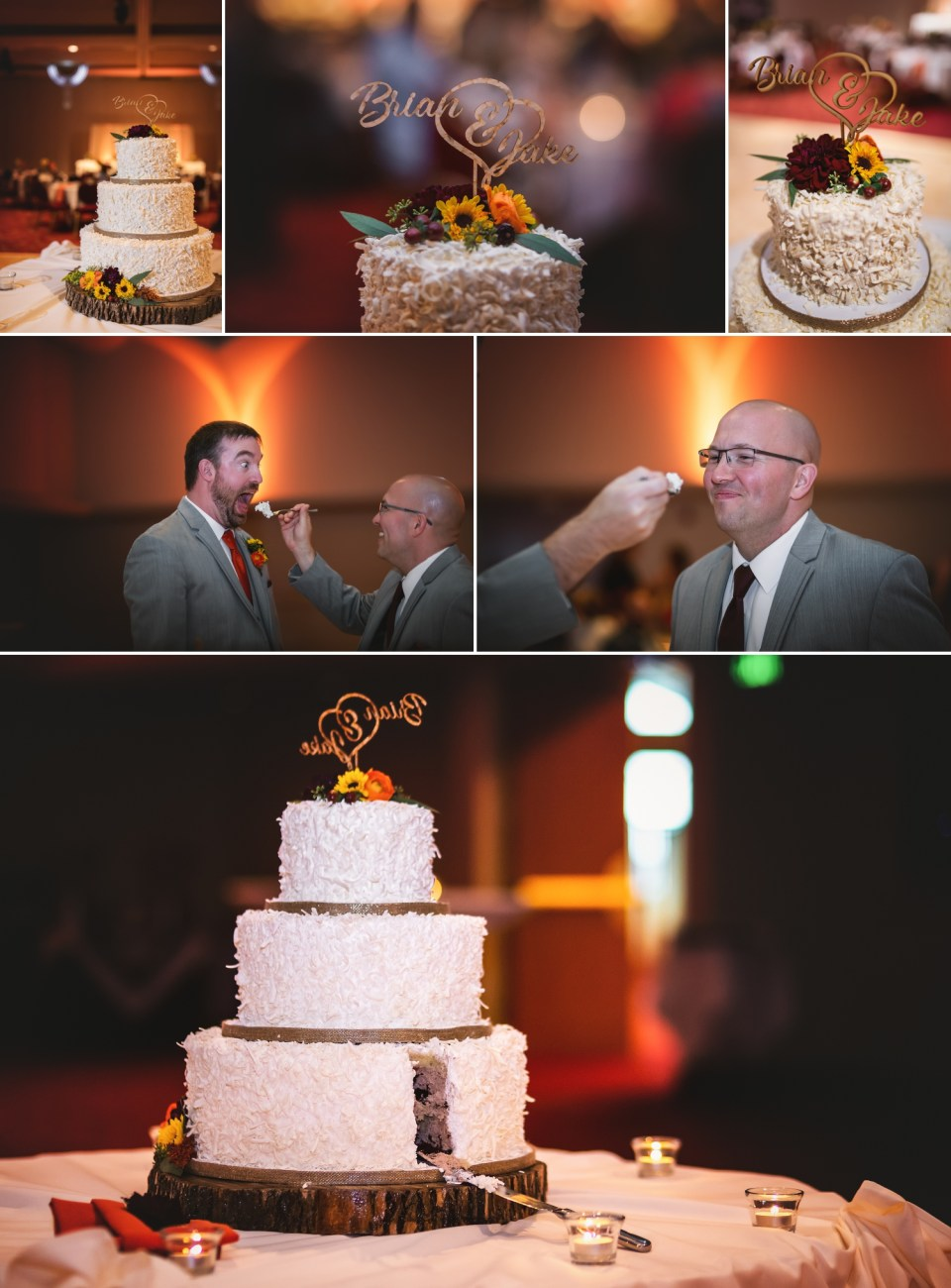 Fall Inspired Wedding Cake | Pink Spruce Photography | www.pinksprucephotography.com