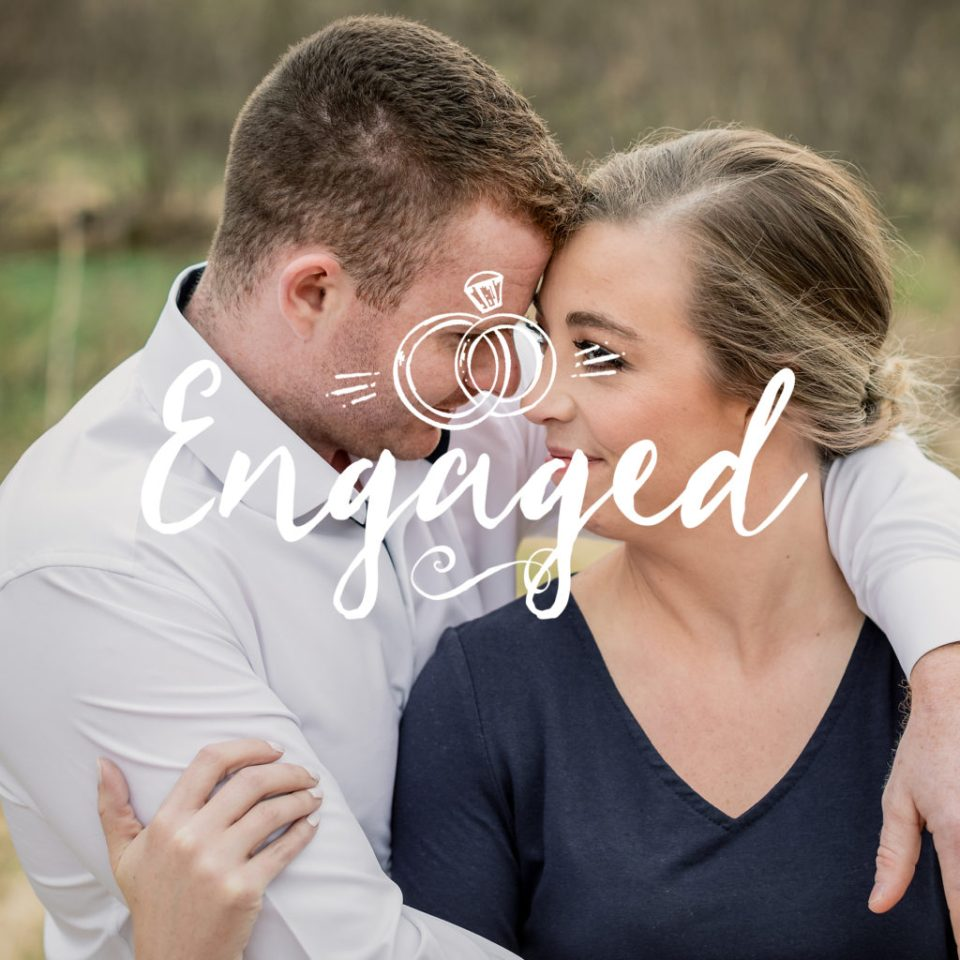 Champagne Toast Engagement Session at Cassell Hollow Farm · Ellie + Chris