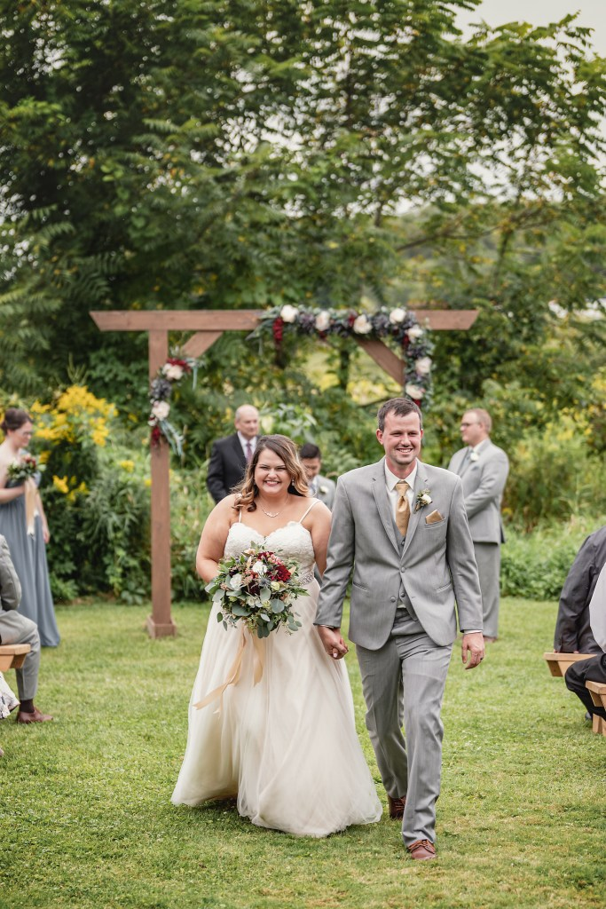 Outdoor Ceremony.  The Greenhouse at Bittersweet Flower Market Wedding | Pink Spruce Photography | www.pinksprucephotography.com