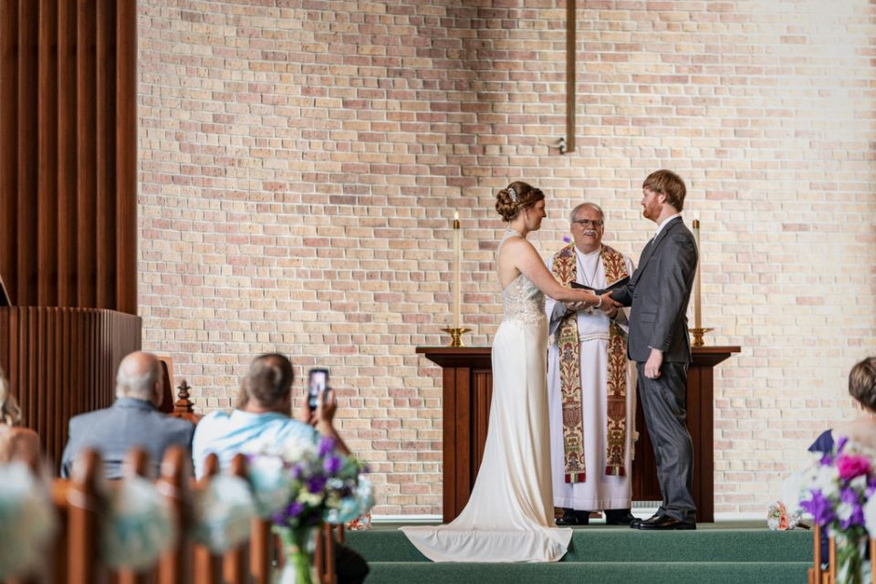 Covid 19 Wedding Ceremony · Kassie + Austin · La Crosse, WI Elopement Photographer
