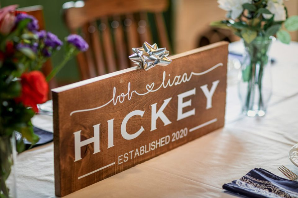 Personalized Wedding Sign | Elizabeth + Robert | Pink Spruce Photography – Sparta Wisconsin Wedding Photographer