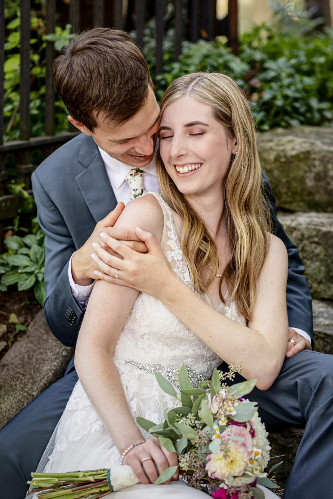 Bride and Groom Portraits at The Livingston Inn after the Allen Centennial Gardens Wedding | Madison, Wisconsin Wedding Photographer