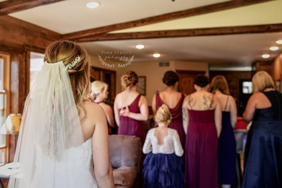 Bridesmaid First Look at a Winnebago Springs Wedding · McKennah + Jacob | Minnesota Wedding Photographer