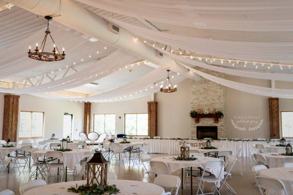 Wedding Reception Space at Winnebago Springs · McKennah + Jacob   Caledonia MN Wedding Photographer