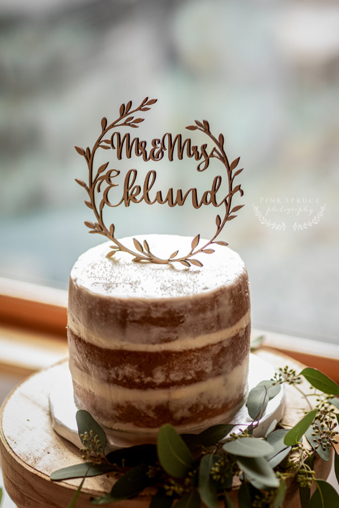 Wedding Cake at Winnebago Springs · McKennah + Jacob | Caledonia MN Wedding Photographer