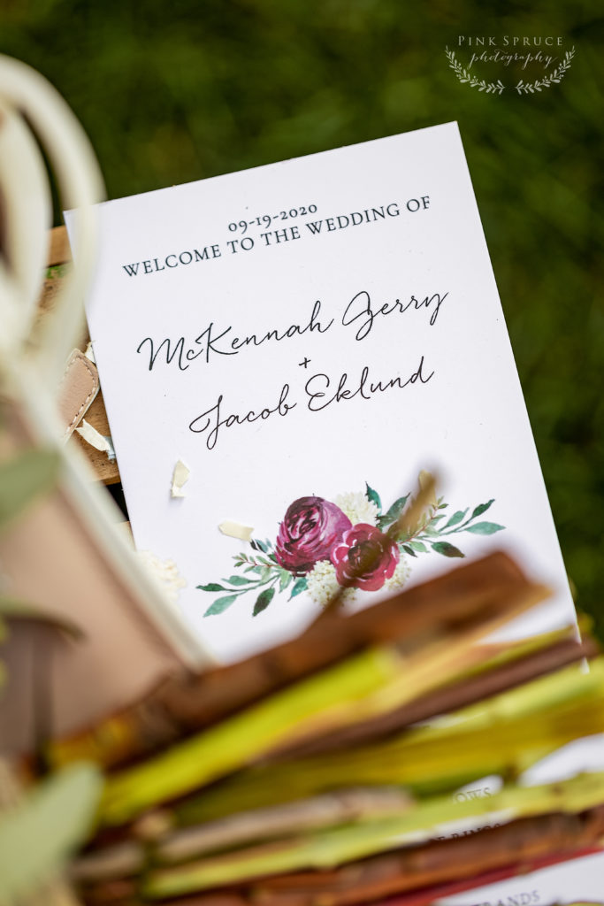 Winnebago Springs Wedding Program · McKennah + Jacob | Minnesota Wedding Photographer