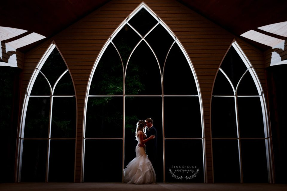 Twilight Session Photo on Wedding Day as seen in the blog post:  How Many Hours of Wedding Photography Do you Need.  Here's How to Figure it Out by Pink Spruce Photography.