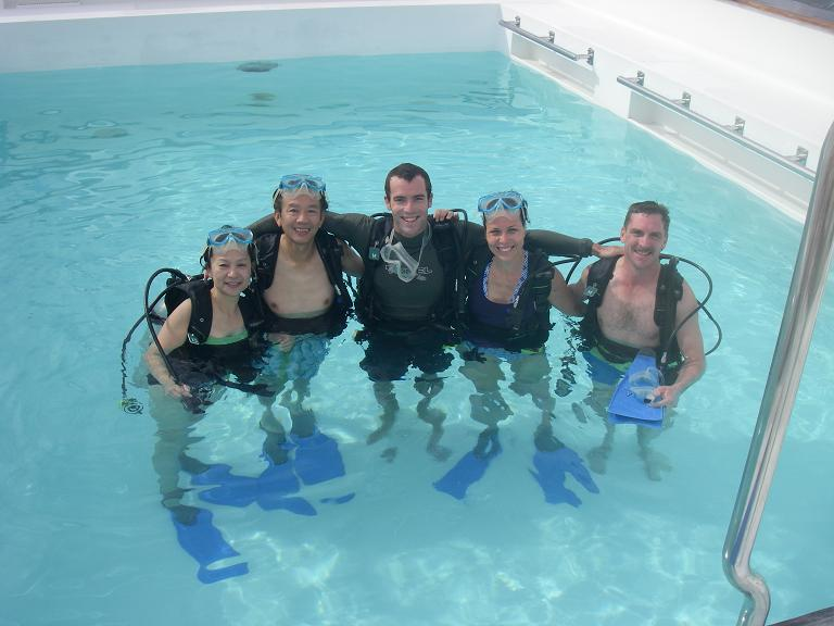 I also learned to scuba this year. I'm the second from the right.