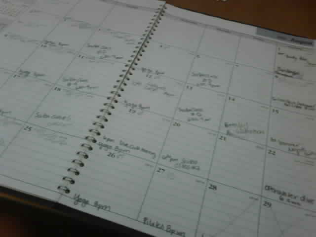 A page from my calendar--August