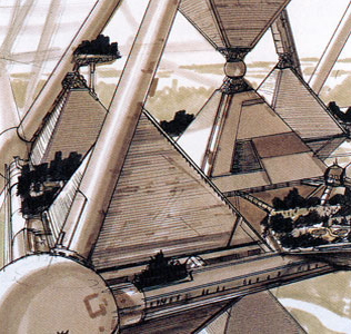 Mega-City Pyramid concept by Shimizu Corporation --