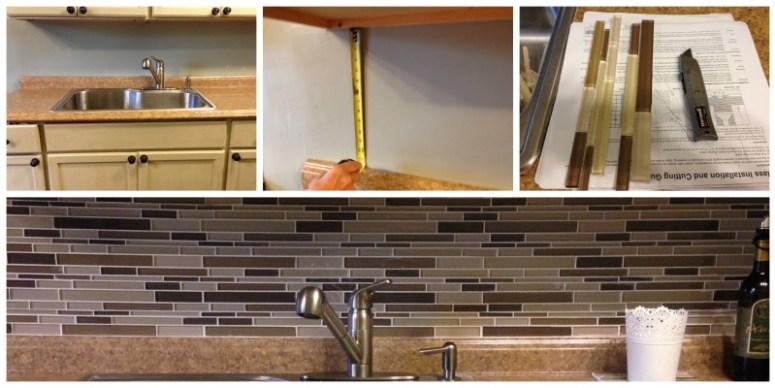 before tile backsplash